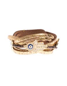 YUTA PASCH Braided Hand Pearl Gold