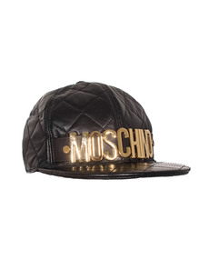 MOSCHINO Snapback Quilt Cool Black