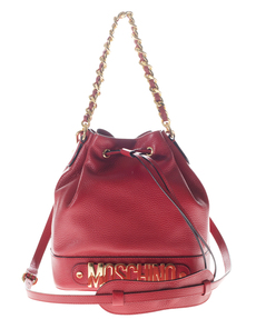 Moschino Chain Strap Bucket Red