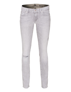 SEVEN FOR ALL MANKIND Roxanne The Slim Destroyed Grey