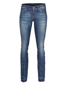 SEVEN FOR ALL MANKIND Olivya The Low Skinny Mid Blue