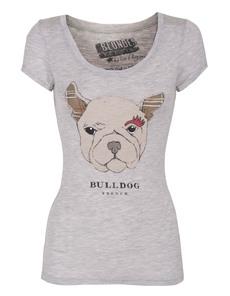 BLONDES MAKE BETTER T-SHIRTS French Bulldog Slim Heather Grey