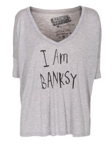 BLONDES MAKE BETTER T-SHIRTS I Am Banksy Heather Grey