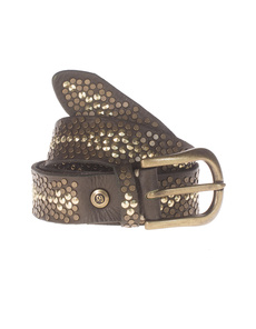 B.Belt Edgy Studs Brown