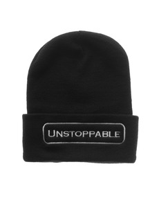 UNSTOPPABLE NYC Beanie Black White