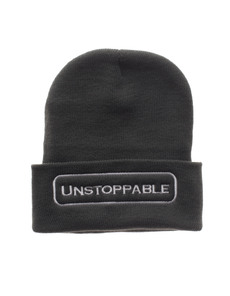 UNSTOPPABLE NYC Beanie Dark Grey White