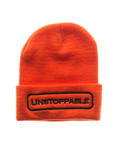 UNSTOPPABLE NYC Beanie Orange Dark Brown