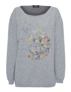 CAMOUFLAGE COUTURE STORK Smiley Birds Heather Grey