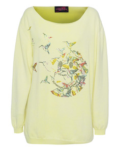 CAMOUFLAGE COUTURE STORK Smiley Birds Yellow