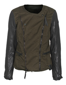 TIGHA Cora Twill Leather Black Khaki
