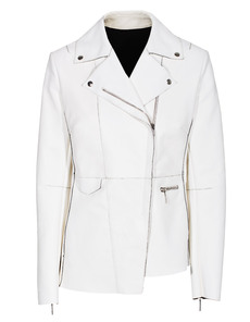 Costume National Asymetric Biker clean White