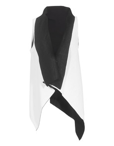 Costume National Asym Scuba Knit Black White