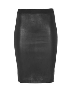 HELMUT LANG Knee Length Stretch Plonge Black