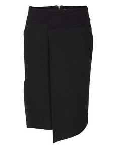 HELMUT LANG Deep Pleat Sonar Wool Black