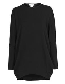 HELMUT LANG Round Shape Sweatshirt Villous Black