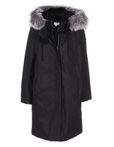 HELMUT LANG Fur Lined Ultimate Trench Black