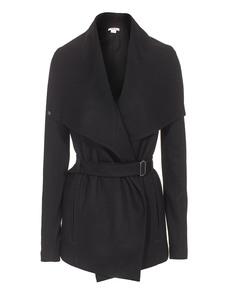 HELMUT LANG Sonar Wool Belted Black