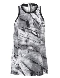 HELMUT LANG Terrene Print Silk Grey Multi