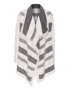 ELLA MOSS Knit Open Black White