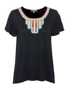 ELLA MOSS Loose Embroidery Black