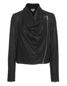 HELMUT LANG Drape Front Leather Black