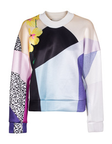 3.1 Phillip Lim Clean Graffiti Art Pink Yellow Multi