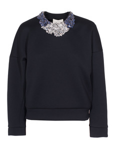 3.1 Phillip Lim Encrusted Neck Midnight Black