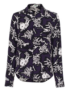 KENZO Monster Button Print Purple