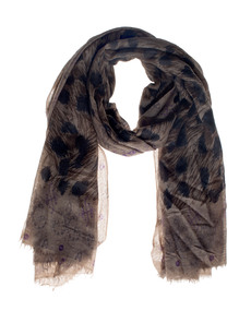 FRIENDLY HUNTING Stola Felted Paisley Brown