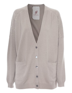 FRIENDLY HUNTING Cardigan Bent Taupe