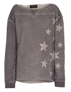 CAMOUFLAGE COUTURE STORK Sweat Stars Washed Grey