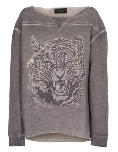 CAMOUFLAGE COUTURE STORK Sweat Tiger Grey