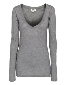LNA CLOTHING Classic L/S Deep V Grey