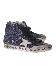 GOLDEN GOOSE Francy Blue Glitter