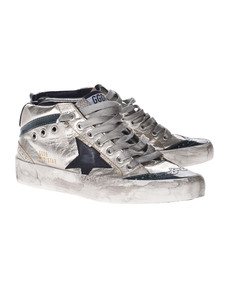 GOLDEN GOOSE Mid Star Silver Forest