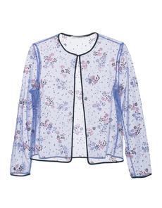 MARY KATRANTZOU Glamour Floral Glitter Blue
