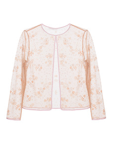 MARY KATRANTZOU Glamour Floral Glitter Beige
