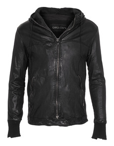 GIORGIO BRATO Leather Hood Black