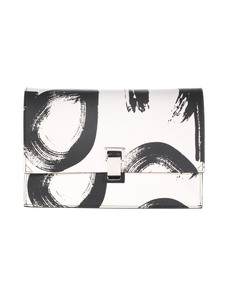 PROENZA SCHOULER Small Lunch Bag Logo Print Off-White
