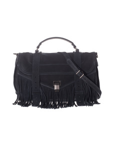 PROENZA SCHOULER PS 1 Medium Fringe Suede Navy