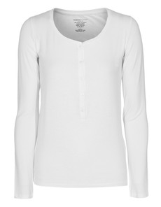 Majestic Filatures  Henley Soft Touch White