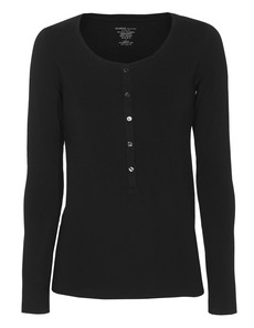 Majestic Filatures  Henley Soft Touch Black