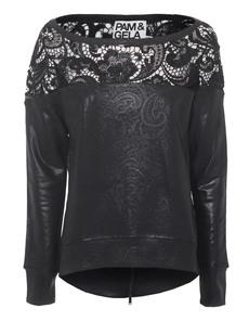 Pam&Gela Coated Lace Black