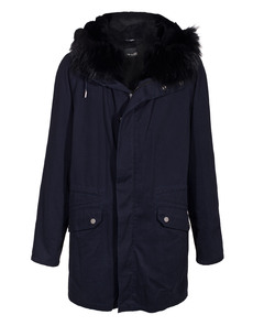 YVES SALOMON Parka Dark Blue