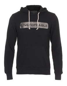 UNSTOPPABLE NYC Hood Side Zip Black