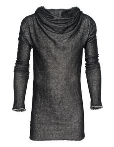 ISABEL BENENATO Fine Knit Hood Black