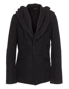 ISABEL BENENATO Classy Hooded Linen Black