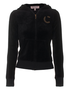 JUICY COUTURE Rhinestone Monogram Black
