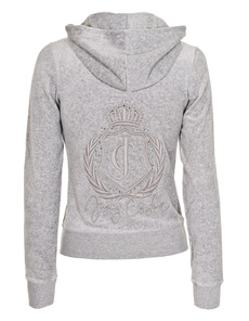 JUICY COUTURE Embroidered Crest Silver Lining