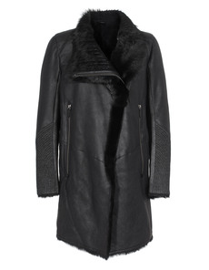 VSP Shearling Sleeve Linen Black